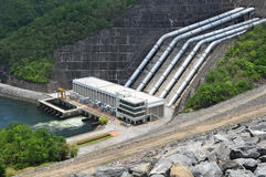 Electricity Generator front of Sri Nakharin Dam Royalty Free Stock Photos
