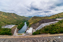 Electricity Generator Sri Nakharin Dam Overview Royalty Free Stock Image