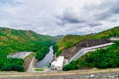 Electricity Generator Sri Nakharin Dam Overview, Kanchanaburi Royalty Free Stock Images