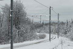 Electricity grid of train Stock Photos
