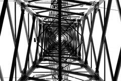 Electricity grid. View of electricity grid from an differend prespection royalty free stock photography