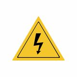 Electricity hazard sign vector design Royalty Free Stock Image