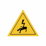 Electricity hazard sign vector design Stock Images