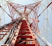 Electricity high voltage power pylon Stock Photos