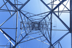 Electricity high voltage power pylon Stock Image