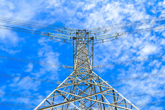 Electricity high voltage power pylon Royalty Free Stock Photography