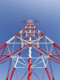 Electricity high voltage pylon perspective view Stock Images