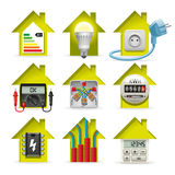 Electricity Home Icons Royalty Free Stock Photography