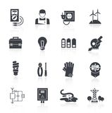 Electricity Icon Black Stock Image