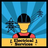 Electricity icon poster Royalty Free Stock Photos