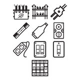 Electricity icon set Stock Images