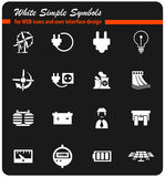 Electricity icon set Royalty Free Stock Photography