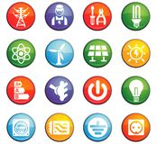 Electricity icon set Stock Image