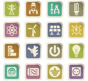 Electricity icon set Stock Photo