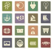 Electricity icon set Stock Photography