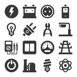 Electricity Icon Set Royalty Free Stock Photo