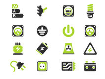 Electricity. Icon. simply symbol for web icons Royalty Free Stock Photo
