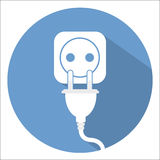 Electricity icon vector illustration stock Stock Image