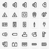 Electricity icons Royalty Free Stock Photos