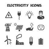 Electricity icons Royalty Free Stock Photography