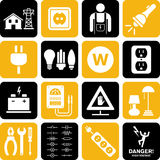 Electricity icons Royalty Free Stock Images