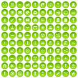 100 electricity icons set green. 100 electricity icons set in green circle isolated on white vectr illustration Stock Photo