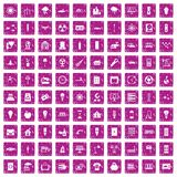 100 electricity icons set grunge pink. 100 electricity icons set in grunge style pink color isolated on white background vector illustration vector illustration