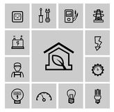 Electricity icons set Stock Photo