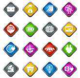 Electricity icons set Stock Image