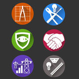 Electricity icons vector Royalty Free Stock Photos