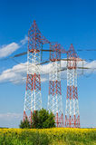 Electricity industry, technology, power line Royalty Free Stock Photography