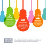 Electricity Infographics Set Royalty Free Stock Image