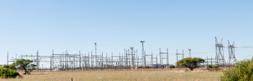 Electricity infrastructure panorama Royalty Free Stock Photos