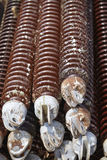 Electricity - Insulators for high-voltage Royalty Free Stock Photo