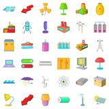 Electricity lamp icons set, cartoon style. Electricity lamp icons set. Cartoon style of 36 electricity lamp vector icons for web isolated on white background Stock Image