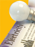 Electricity & Light Bulb Royalty Free Stock Photos
