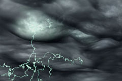 Electricity lightening. Electricity concept with lightening and storm clouds Stock Images