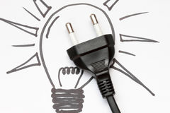 Electricity and lighting concept Stock Photography