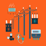 Electricity line Royalty Free Stock Photo