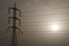 Pylon and Sun Stock Image