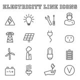 Electricity line icons Stock Photos