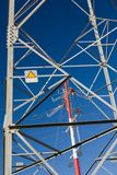 Electricity line repairs Stock Photo