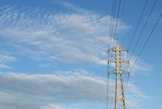 Electricity line - Stock image Stock Photos
