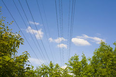 Electricity. Lines in the nature Royalty Free Stock Photos