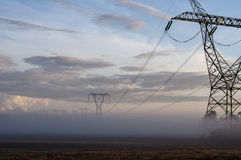 Electricity. Lines power energy grid Stock Photography