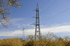 Electricity lines Royalty Free Stock Photography