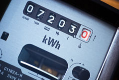 Electricity Meter. To signify the rising cost of power Royalty Free Stock Images