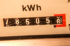 Electricity meter. Background (kwh Royalty Free Stock Photos