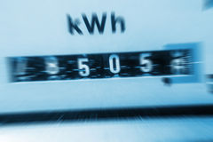 Electricity meter. (blurred), increasing costs Royalty Free Stock Photos