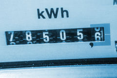 Electricity meter. Background (kwh Stock Images